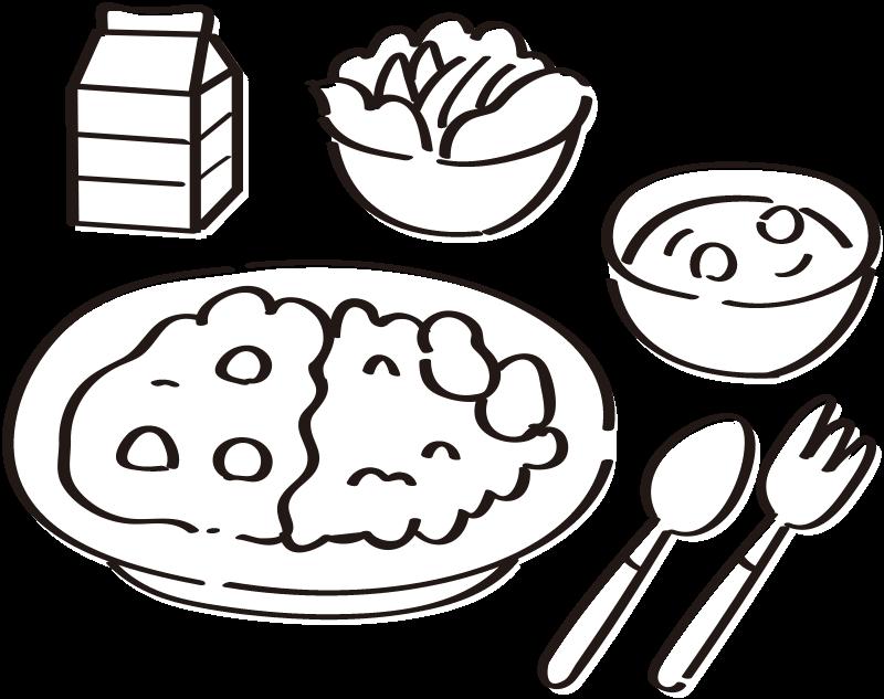給食のことのイラスト