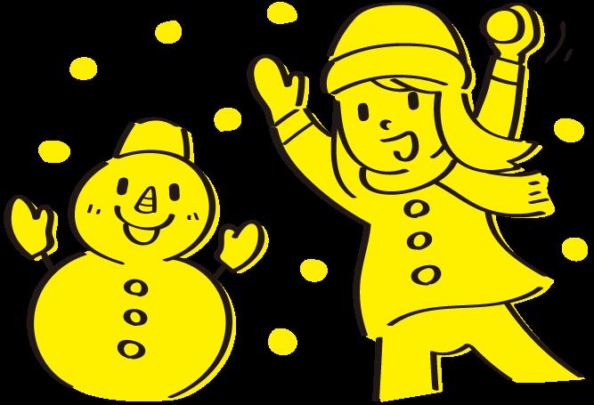 05 冬の雪アソビのイラスト